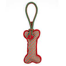 Pet Holiday™ Rope Tug Bone Dog Toy