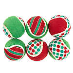 Pet Holiday™ Tennis Balls Dog Toy - 6 Pack