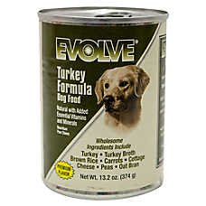 Evolve® Dog Food - Natural, Turkey, 12ct Case