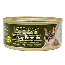 Evolve® Cat Food - Natural, Turkey, 24ct Case