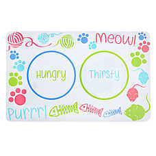 Grreat Choice® Hungry Thirsty Cat Placemat