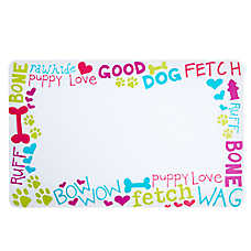 Grreat Choice® Fun with Words Pet Feeding Placemat