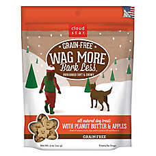 Cloud Star® Wag More Bark Less® Dog Treat - Natural, Grain Free, Peanut Butter & Apples