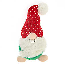 Pet Holiday™ Gnome Dog Toy - Plush, Squeaker