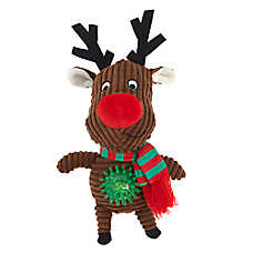 Pet Holiday™ Reindeer Light-Up Dog Toy - Plush, Squeaker