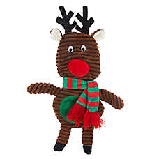 Pet Holiday™ Reindeer Flattie Dog Toy - Crinkle