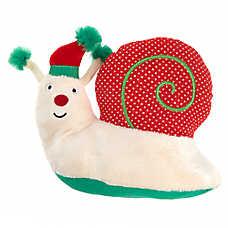 Pet Holiday™ Snail Dog Toy - Plush, Squeaker