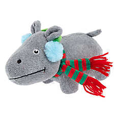 Pet Holiday™ Hippo Dog Toy - Plush, Squeaker