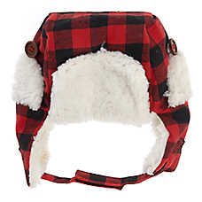 Top Paw® Holiday Sherpa Aviator Pet Hat
