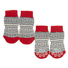 Top Paw® Fairisle Pet Socks