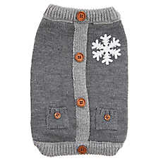 Top Paw® Holiday Snowflake Knit Pet Sweater
