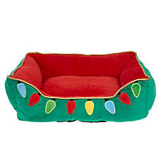 Pet Holiday™ Lights Cuddler Pet Bed