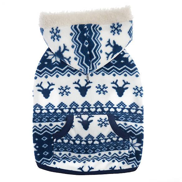 Top Paw® Holiday Fair Isle Fleece Pet Hoodie | dog Sweaters ...