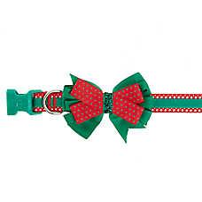 Pet Holiday™ Polka Dot Bow Adjustable Dog Collar