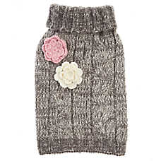 Top Paw® Flower Knit Pet Sweater