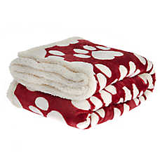 PetSmart Holiday Heart Paws Pet Blanket