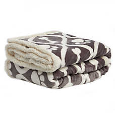 PetSmart Holiday Dog Bones & Paws Pet Blanket