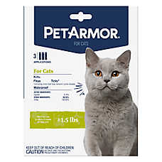 PetArmor® Flea & Tick Treatment for Cats Over 1.5 lb - 3 Count