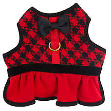 Top Paw® Plaid Bow Vest Dog Harness
