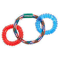 Top Paw® Rope Ring with Rings Dog Toy