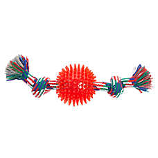 Top Paw® Knot Rope with Spike Ball Dog Toy