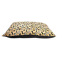Grreat Choice® Printed Dogs & Bones Pillow Pet Bed