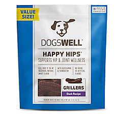 DOGSWELL® HAPPY HIPS® Grillers Dog Treat - Grain Free, Duck