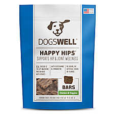 DOGSWELL® HAPPY HIPS® Bars Dog Treat - Grain Free, Chicken & Veggies