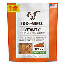 DOGSWELL® Vitality Jerky Dog Treat - Grain Free, Chicken