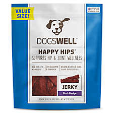DOGSWELL® HAPPY HIPS® Jerky Dog Treat - Grain Free, Duck