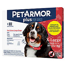 PetArmor® Plus Flea & Tick Spot On Treatment for 89-132 lbs Dogs - 3 Count