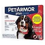 PetArmor® Plus Flea & Tick Spot On Treatment for 89-132 lbs Dogs - 3 Count