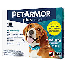 PetArmor® Plus Flea & Tick Spot On Treatment for 23-44 lbs Dogs - 3 Count
