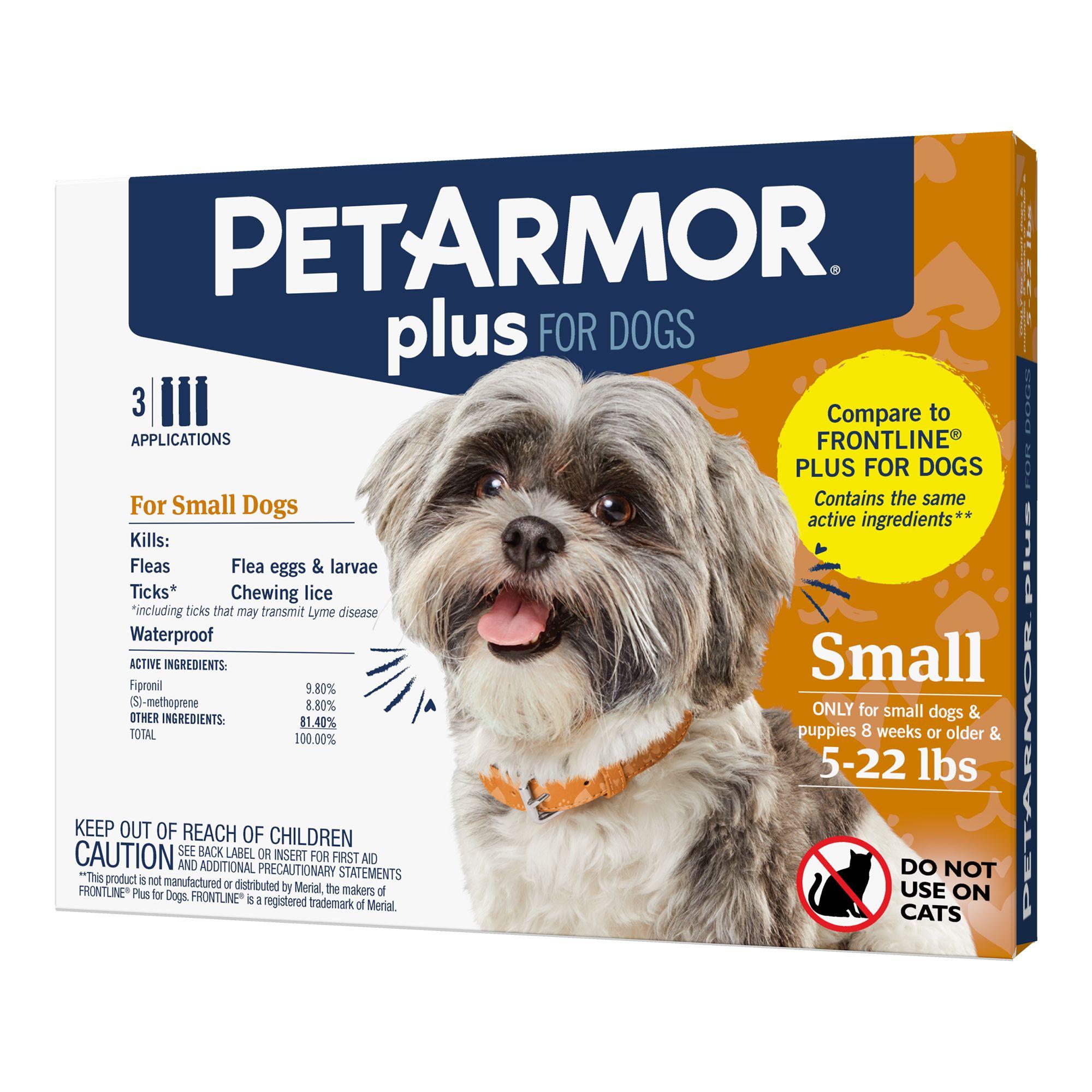 Petarmor Plus For Dogs 5 22lbs Flea Tick Spot On Treatment