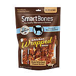 SmartBones® Chicken Wrapped Sticks Large Dog Treat - Peanut Butter