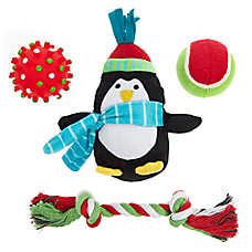 Pet Holiday™ Penguin Dog Toys - 4 Pack