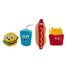 Pet Holiday™ Fast Food Dog Toys - 4 Pack