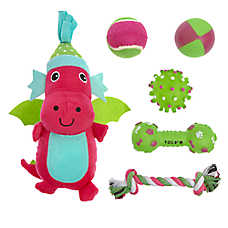 Pet Holiday™ Hippo Dog Toys - 6 Pack