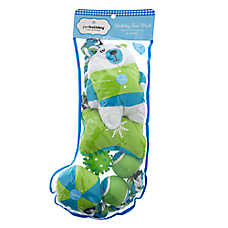 Pet Holiday™ Polar Bear Dog Toys - 8 Pack Stocking