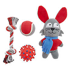 Top Paw® Holiday Rabbit Dog Toys - 4 Pack