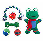 Top Paw® Holiday Frog Dog Toys - 6 Pack