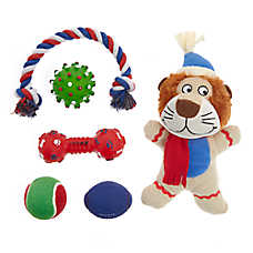 Top Paw® Holiday Lion Dog Toys - 6 Pack