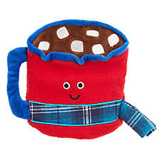 Top Paw® Holiday Cocoa Cup Flattie Dog Toy - Crinkle