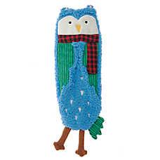 Top Paw® Holiday Owl Flattie Dog Toy - Crinkle