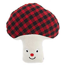 Top Paw® Holiday Mushroom Dog Toy - Plush, Squeaker