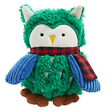 Top Paw® Holiday Owl Dog Toy - Plush, Squeaker