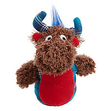 Top Paw® Holiday Moose Dog Toy - Plush, Squeaker
