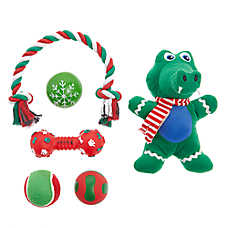 Top Paw® Holiday Alligator Dog Toys - 6 Pack