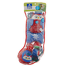 Top Paw® Holiday Owl Dog Toys - 8 Pack Stocking