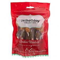 Pet Holiday™ Festive Rawhide Kabobs Dog Chew - Beef & Chicken Flavor